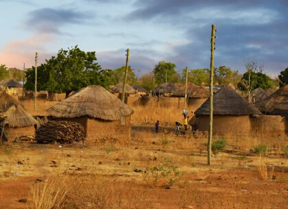 Village Country Life Africa Ghana West Africa Land